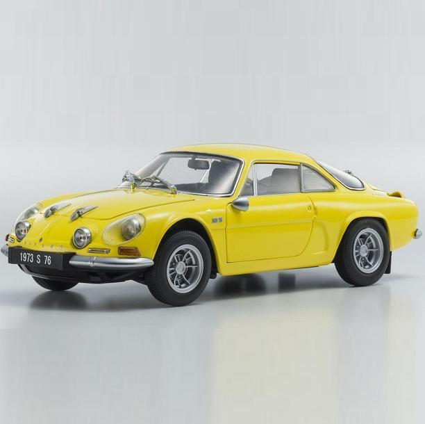 1/18 Kyosho Alpine Renault A110 1600S giallo Diecast Model Car giallo 08484Y