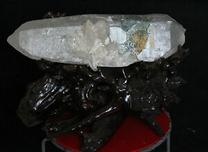 12-7lb-AAA-Rare-Natural-Lemurian-Seed-Double-end-Crystal-Green-Phantom-Quartz