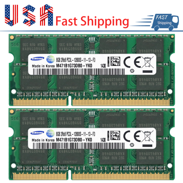 16GB 2x 8GB Micron DDR3L 1600 MHz PC3L 12800 SODIMM Laptop Memory RAM 1.35V