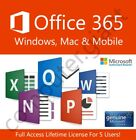 Microsoft Office 365 Lifetime License - 5 Users For Windows, Mac & Mobile!
