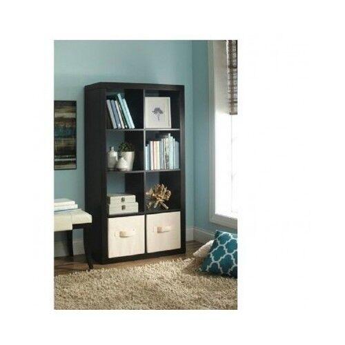 8 Cube Storage Organizer Bookcase Shelf Display Unit Living Room Dorm  Furniture