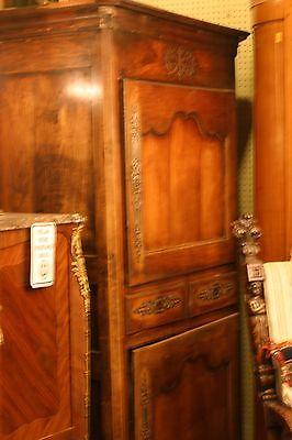 Antique French Armoire, Bonnatiere, 2 Compartments,, 19 C.walnt Original