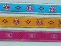 6 Yards Of 1 1/2 Medieval Renaissance Jacquard Ribbon Trim Choice Of 3 Colors