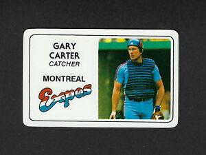 1981 Permagraphics GARY CARTER credit card EXPOS Perma ...