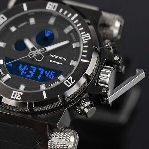 INFANTRY-Mens-Digital-Quartz-Wrist-Watch-Chronograph-Sport-Army-Tactical-Black