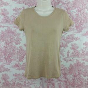 2c015f52a755 Womens Faded Glory Basic Tee Shirt Light Brown Size M 8-10   eBay