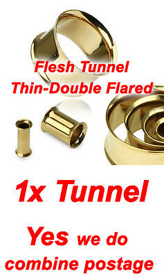 NEW Gold Plated Over 316L Surgical Steel, 4 Types Ear Flesh Plug Tunnel Taper