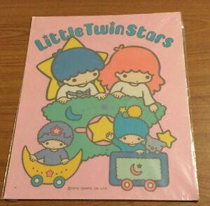 Ultra-Rare-Vintage-1976-Sanrio-Little-Twinstars-Extra-Large-Sticker-Great-Gift