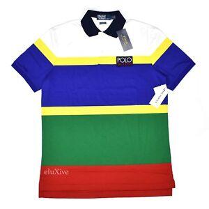 225cba63 NWT Polo Ralph Lauren Men's HI-TECH Logo Retro Striped Shirt S FW18 ...
