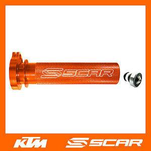 POIGNEE-DE-GAZ-ACCELERATEUR-ALU-ROULEMENT-KTM-SXF-SX-F-250-350-450-00-15-ORANGE
