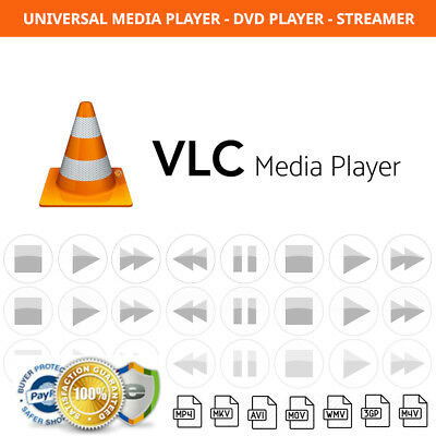 VLC Media Player Audio, Video, DVD Player Software for Windows & Mac NEW  2018 | eBay