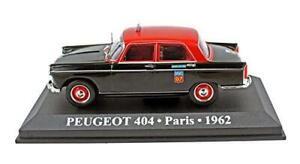 Peugeot-404-PARIS-French-Taxi-diecast-escala-1-43-de-coche-raro