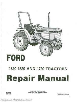Ford 1520 Diesel Compact Tractor Owners Operators Manual