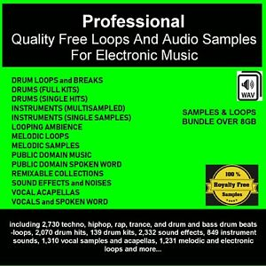 Details about Professional quality DJ free loops and audio samples for  electronic music