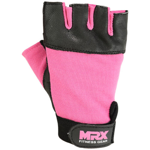 MRX Weightlifting Gloves Gym Workout Leather  Gym Weight Lifting Strap WOMEN