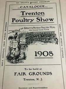 Trenton-NJ-Poultry-Show-1908-Fair-Chicken-Farm-Animal-Farming-Antique-Booklet