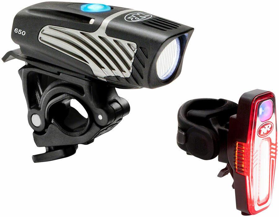 NiteRider Lumina Micro 650 + Sabre 80 LED Head & Tail Light Set USB Rechargeable