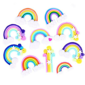1-5-10X-Rainbow-Fimo-Flatback-Buttons-Craft-Appliques-DIY-Microlandschaft-Acces