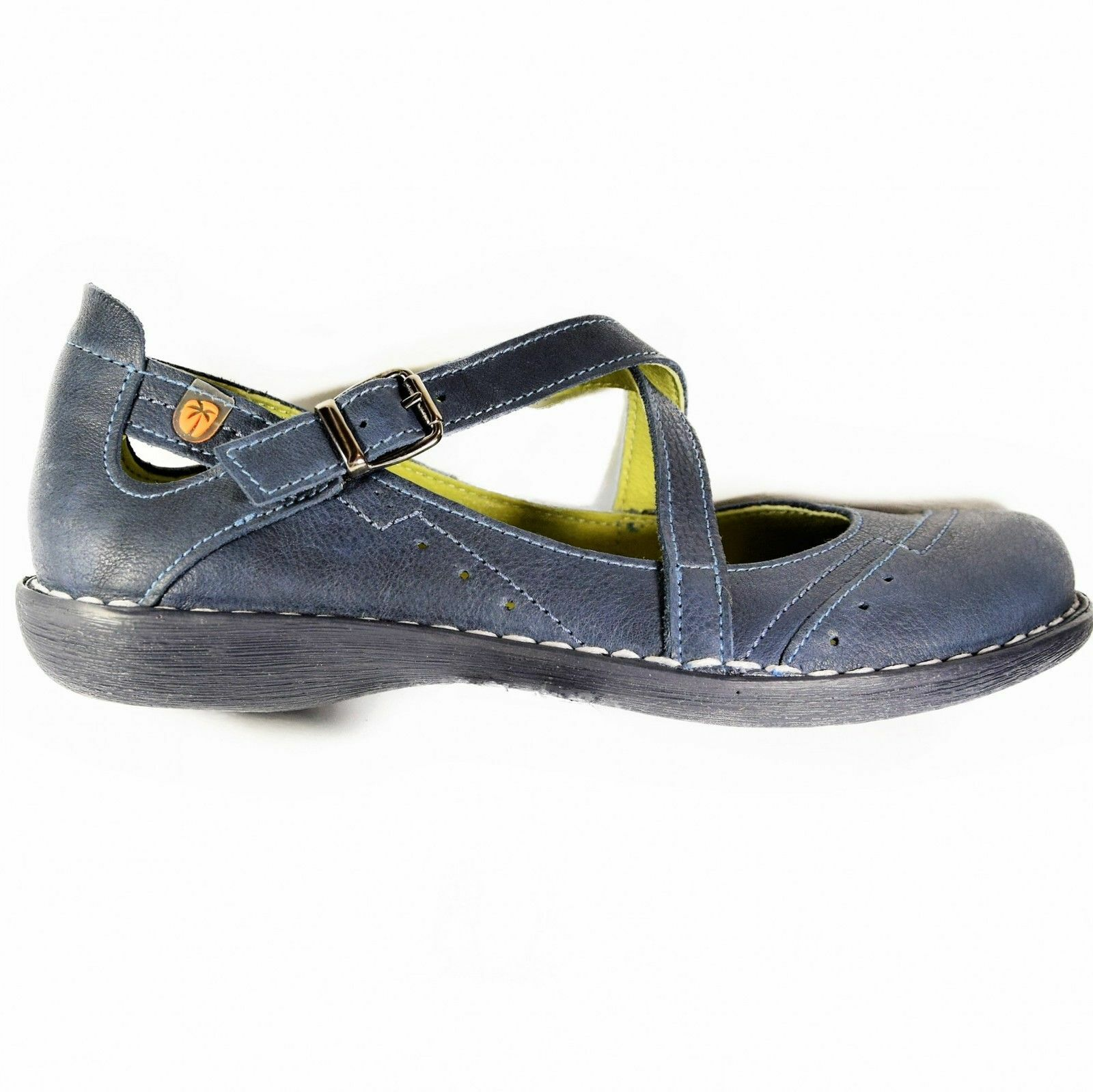 JUNGLA Schuhe Damens'S MARY JANES Blau BALLERINAS SPAIN FLATS 100% LEATHER Damenschuhe SPAIN BALLERINAS 0bc586