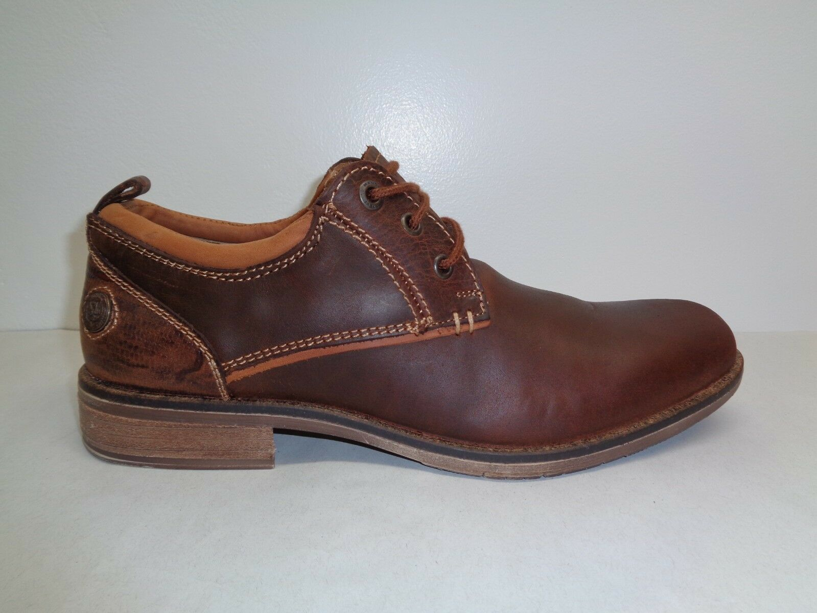 Steve Madden Size 9 M NARRATE Tan Brown Leather Lace Up Oxfords New Uomo Shoes