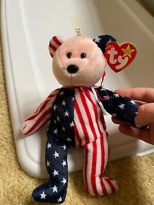 "Mint; *RARE WITH ERRORS/"" *RARE* Original Ty Beanie Baby ""Spangle"" Pink Face"