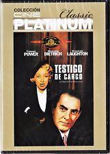 cine platinum classic: TESTIGO DE CARGO de Billy Wilder. Edición diarios