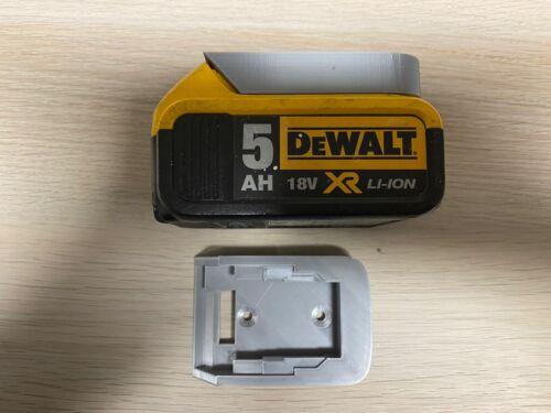 2x 18v DEWALT XR//FLEX VOLT BATTERY HOLDER//MOUNTS 2ah//3ah//4ah//5ah//6AH//9AH