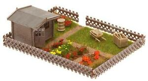 Faller-180492-H0-Allotment-With-a-Small-Garden-Shed