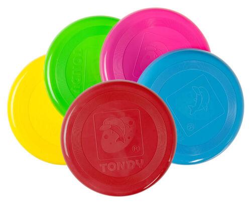 Frisbee Flying Disc 20cm 5 Neon Farben Fliegende Scheibe Wurfscheibe Tombola Spielzeug