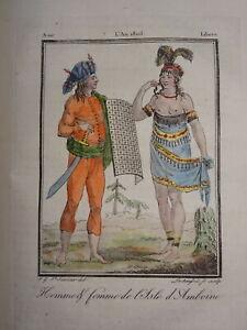 PréCis Gravure Costume Couleur Homme Femme Ile De Ambon IndonÉsie Asie Asia Voyage 1806