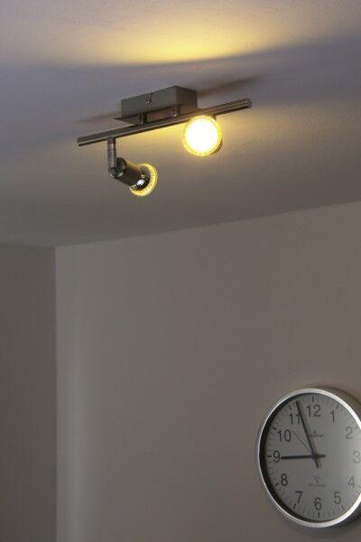 2 spots sur rail LED Plafonnier Lustre Lampe à suspension Farbe chrome 55535