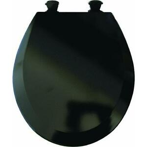 duraguard black round wood toilet seat ebay. Black Bedroom Furniture Sets. Home Design Ideas
