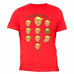 15e805ac3974f0 Donald Trump Icons T-shirt Mexico Wall Funny President Emoji Couples ...