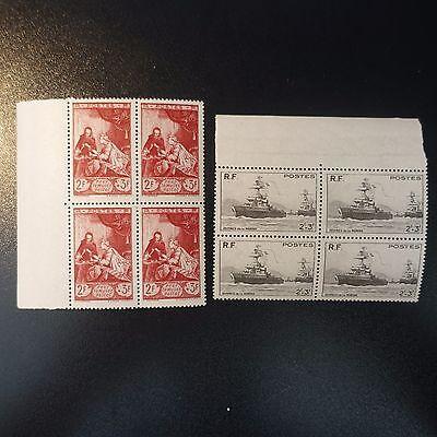 FäHig Oeuvre Marine Nr.752 MusÉe Postal Nr.753 X4 Neuf Luxe Originale Gummi Mnh Briefmarken