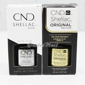 CND Shellac UV LED Gel SMALL 0.25oz 7.3ml DURAFORCE / XPRESS5 Top Base Coat