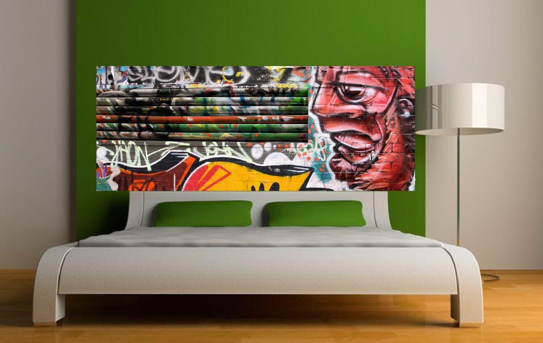 Papel pintado cabeza de colcha grafitti 3606 Arte decoración Pegatinas