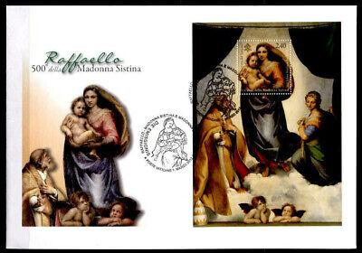 Vatikan 2012 100% Garantie 1512-1513 Ausdauernd Raffael Block Fdc Sixtinische Madonna Mit Kind