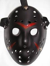 jason voorhees friday 13th black hockey halloween plastic horror mask