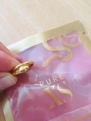 Bague Pure XS ajustable doré en forme de Serpent comme le flacon du Parfum Neuve