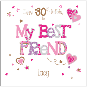 Image Is Loading Personalised Birthday Card Best Friend 30th 40th 50th
