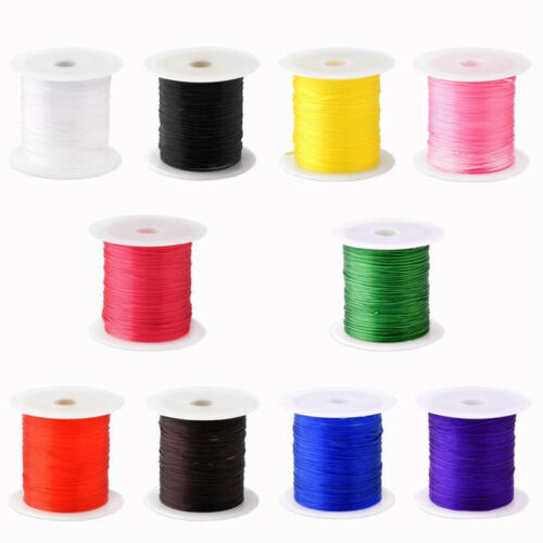 AM/_ 0.8MM ELASTIC STRETCH JEWELRY BRACELET MAKING BEADING THREAD CORD STRING MOD
