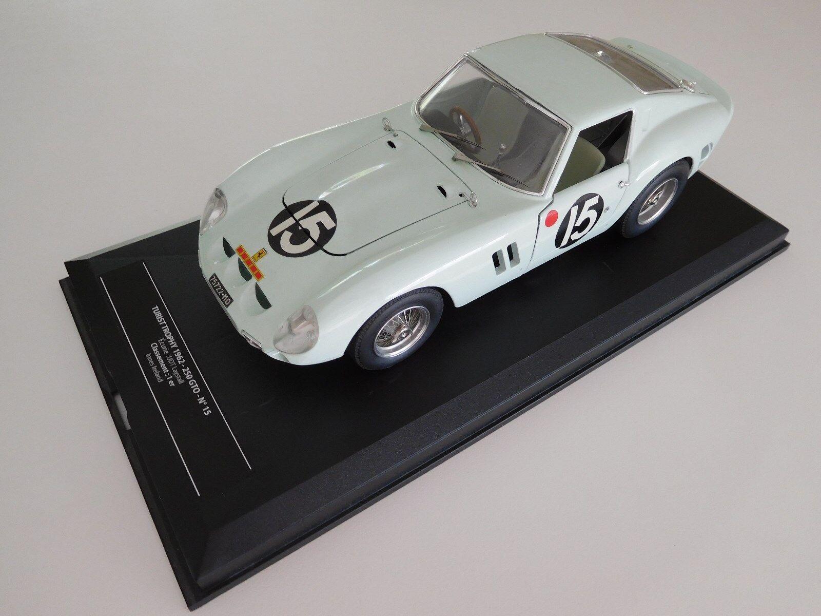 MAGNIFIQUE FERRARI  250 GTO TURIST TROPHY 1962 LE MANS  15 1 18