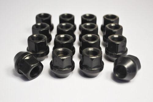 Negro tuercas hexagonales Abierto Aleación Rueda 19mm 16 X Ford Fiesta M12 X 1.5