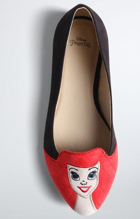 Women's Disney The Little Mermaid Ariel  Flats Shoes (Wide Width) Size 8 New