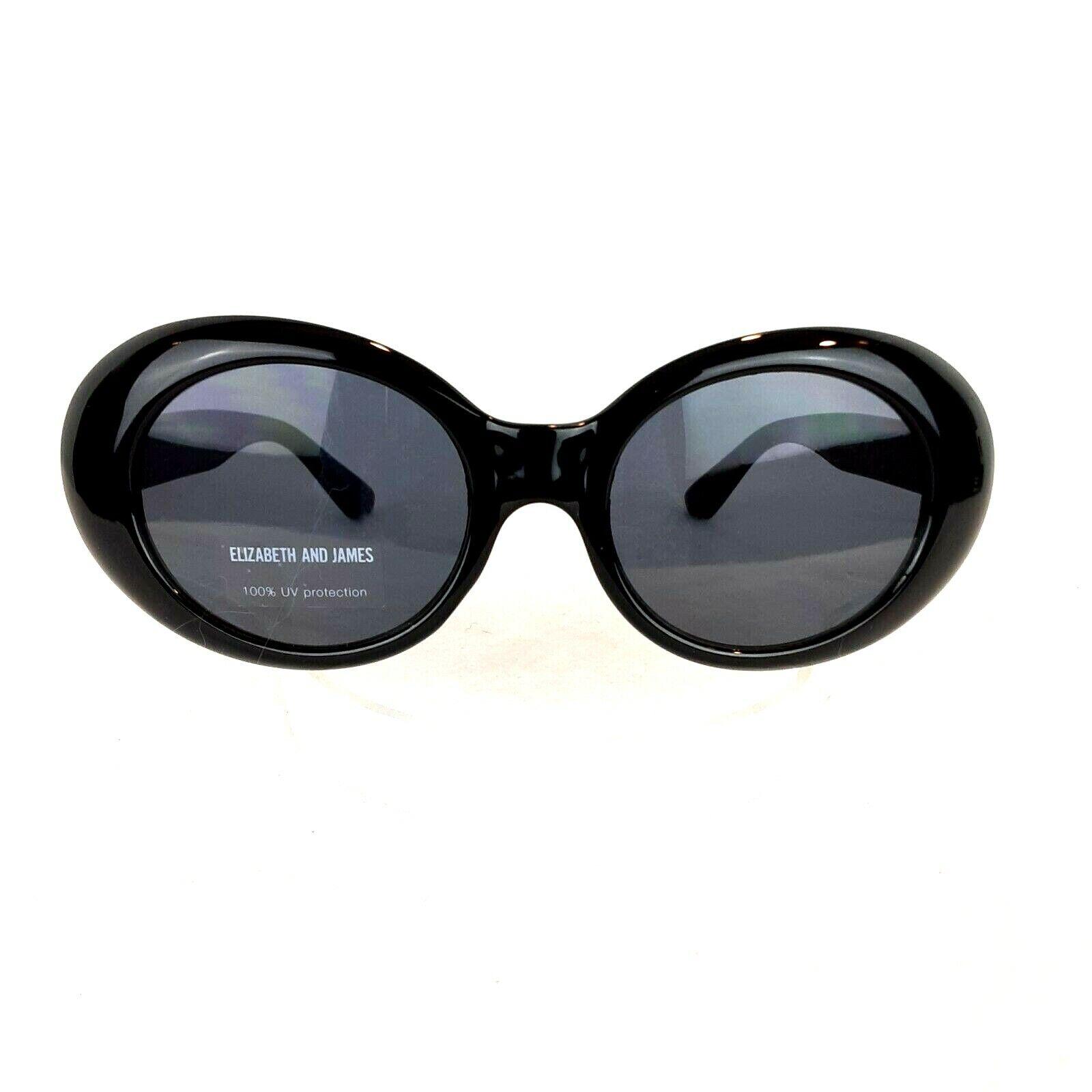 Elizabeth and James Sunglasses Black Cat Eye Women's