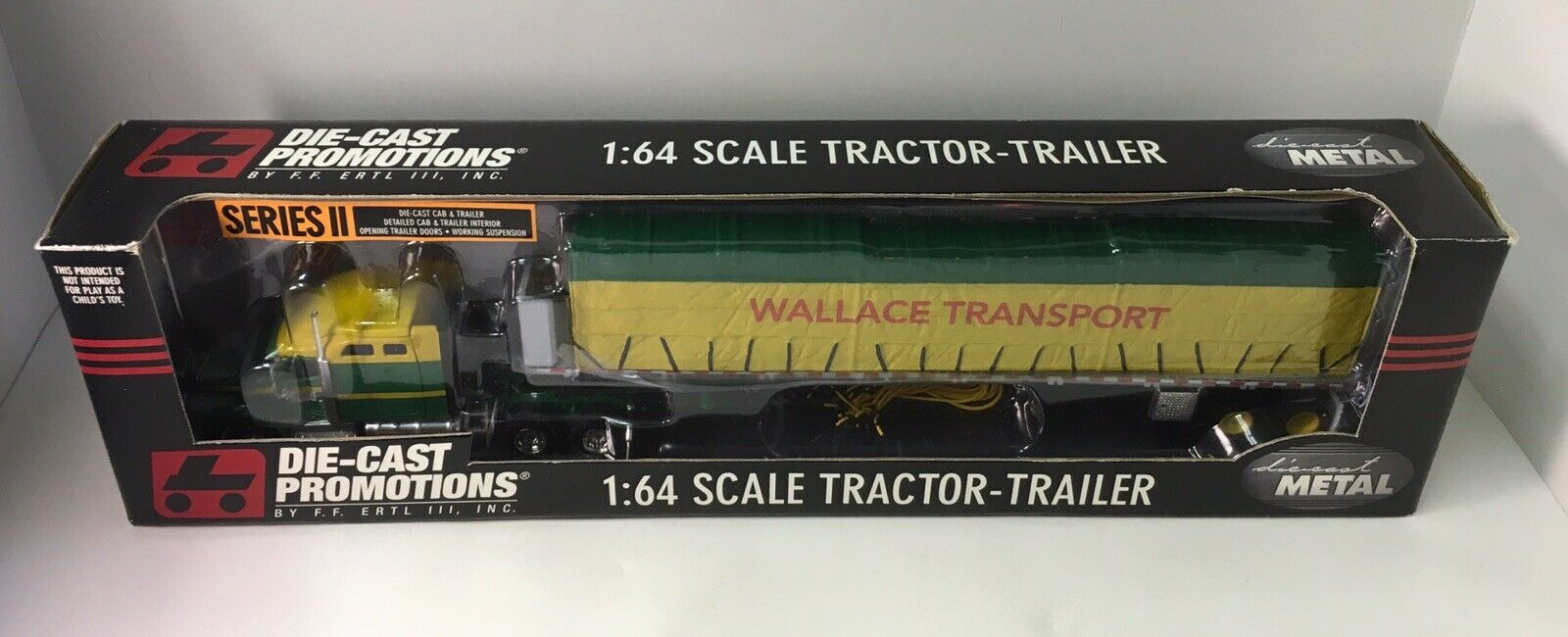 DCP Die Cast Promotions 1 64 Wallace Transport Tractor Trailer Ertl Series NOS