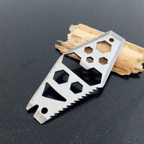 Outdoor EDC Card Tool Multi Function Stainless Pocket Wallet Blade Wrench Driver