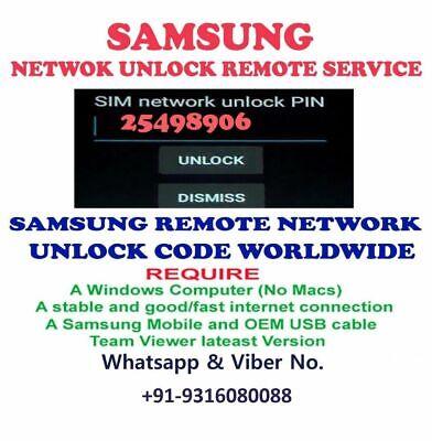 Business & Industrial REMOTE UNLOCK SERVICE SAMSUNG GALAXY J1 SM ...