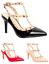 Women-Ladies-PointedToe-Studded-T-Bar-Patent-Stiletto-High-Heel-Court-ShoesUV232 thumbnail 1