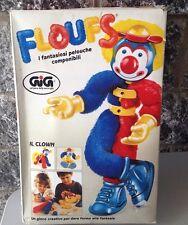 Vintage Rare 80'S Plush Floufs Il Clown Il Fantasioso Componibile#Nib